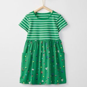 Hanna Andersson Girls Green Floral Mixie Playdress